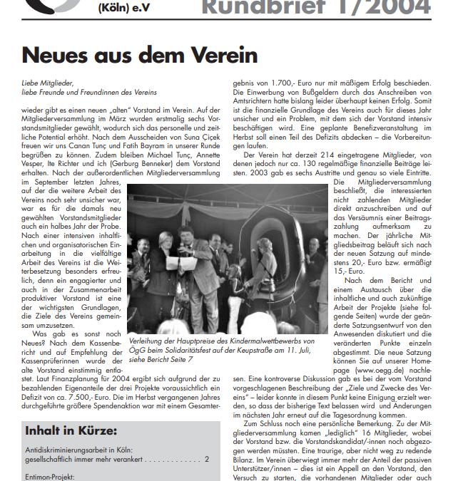 Rundbrief 2004*