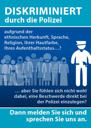 Flyer gegen Polizeigewalt